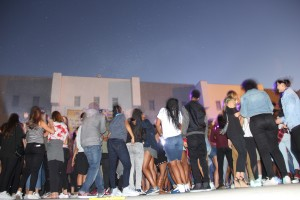 The dance took place at Samo's Greek Amphitheater.